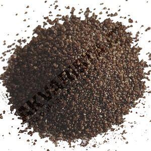 Písek akvarijní 0.6 - 1.2 mm - tmavě hnědý nano, 5kg